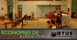 Économie de chauffage à l'église Ste-Paule